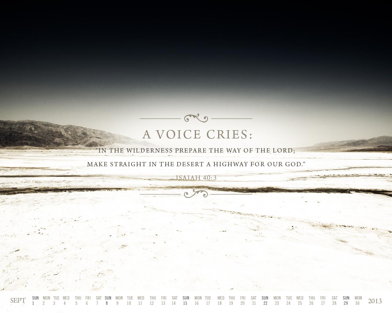 Scripture Quotes Desktop Wallpaper Isaiah 40 3 Prepare The Way Of The Lord Wallpaper