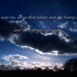 Matthew 11:28 Wallpaper