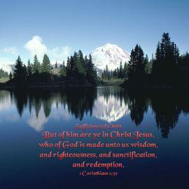 1 Corinthians 1:30 Wallpaper