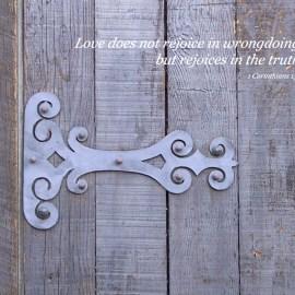 1 Corinthians 13:6 Wallpaper