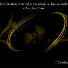 1 Corinthians 1:8 Wallpaper