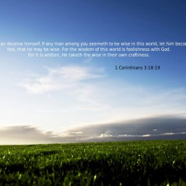 1 Corinthians 3:18-19 Wallpaper