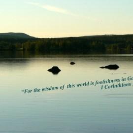 1 Corinthians 3:19 Wallpaper