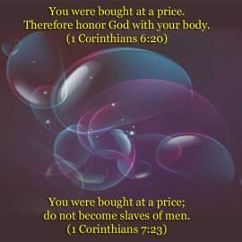 1 Corinthians 6:20 Wallpaper