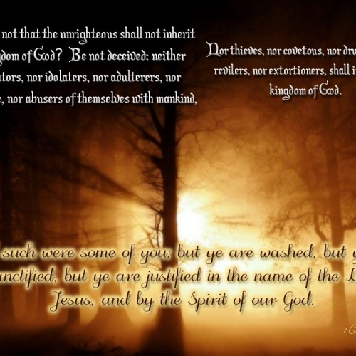 1 Corinthians 6:9-11 christian wallpaper free download. Use on PC, Mac, Android, iPhone or any device you like.