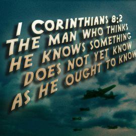 1 Corinthians 8:2 Wallpaper