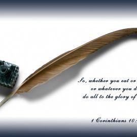 1 Corithians 10:31 Wallpaper