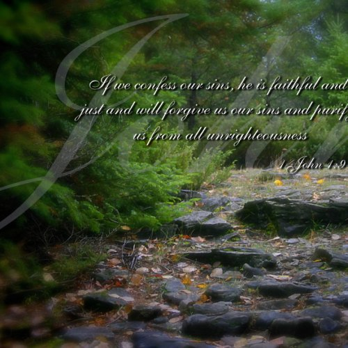 1 John 1:9 christian wallpaper free download. Use on PC, Mac, Android, iPhone or any device you like.