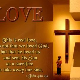 1 John 4:10 Wallpaper