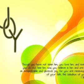 1 Peter 1:8-9 Wallpaper