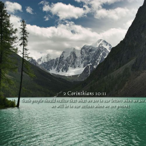 2 Corinthians 10:11 christian wallpaper free download. Use on PC, Mac, Android, iPhone or any device you like.