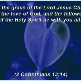 2 Corinthians 13:14 Wallpaper
