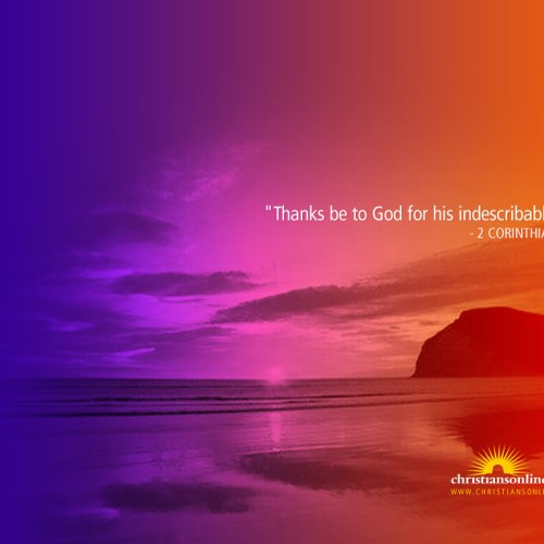 2 Corinthians 9:15 christian wallpaper free download. Use on PC, Mac, Android, iPhone or any device you like.