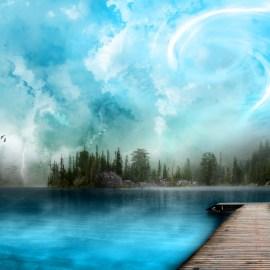 A Diferent Lake Wallpaper
