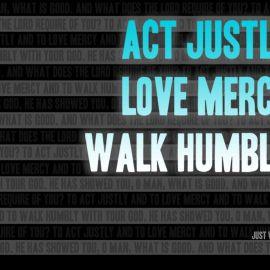 Act justly Wallpaper