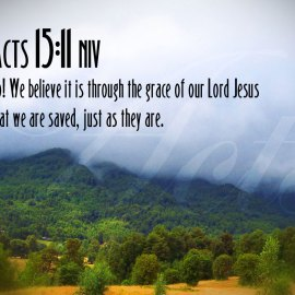 Acts 15:11 Wallpaper