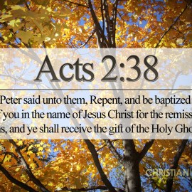 Acts 2:38 Wallpaper