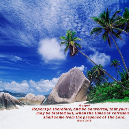 Acts 3:19 christian wallpaper free download. Use on PC, Mac, Android, iPhone or any device you like.