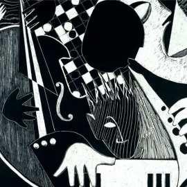 Art in black and white Wallpaper