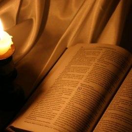 Bible and Light Wallpaper