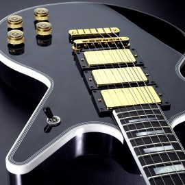 Black Guitar Wallpaper