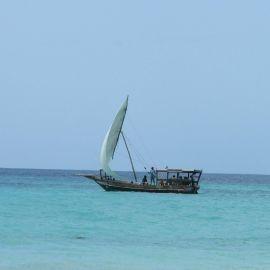Boat at sea Wallpaper