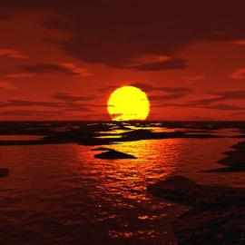 By the sun 3D Wallpaper