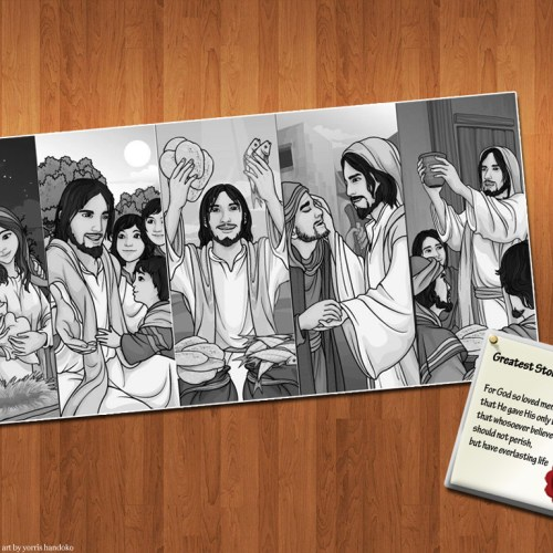 Cartoon – John 3:16 christian wallpaper free download. Use on PC, Mac, Android, iPhone or any device you like.