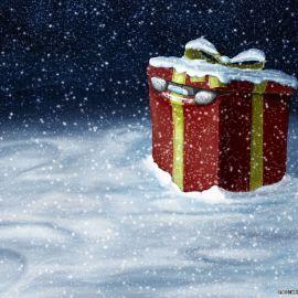 Christas Gift – Snow Wallpaper