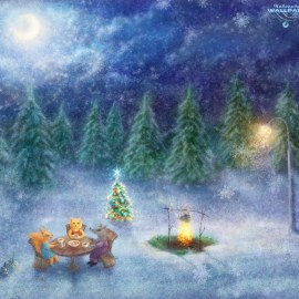 Christmas – Beautiful Night Wallpaper