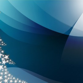 Christmas – Blue Tree Wallpaper