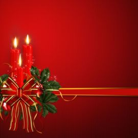 Christmas – Candles Wallpaper