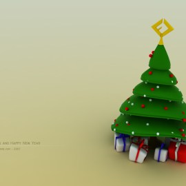 Christmas – Cute Tree Wallpaper