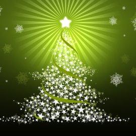 Christmas – Green Tree Wallpaper