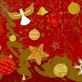 Christmas – Red Happy Wallpaper