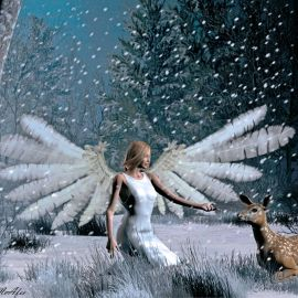 Christmas Angel – Cute Wallpaper