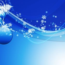 Christmas Ornament – Blue Wallpaper