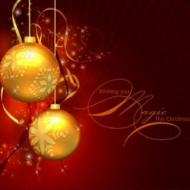 Christmas Ornament – Gold Wallpaper