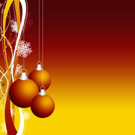 Christmas Ornament – Red and Yellow Wallpaper