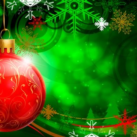 Christmas Ornament – Red Wallpaper