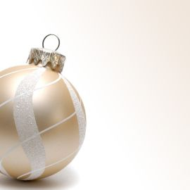 Christmas Ornament – White Wallpaper