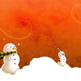 Christmas Snow Men Wallpaper