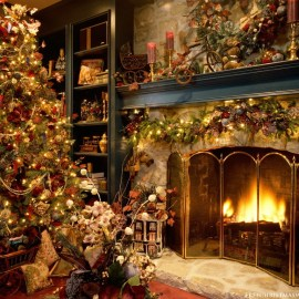 Christmas Tree – House Wallpaper