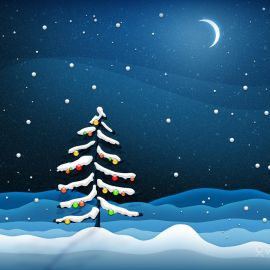 Christmas Tree – Night Wallpaper
