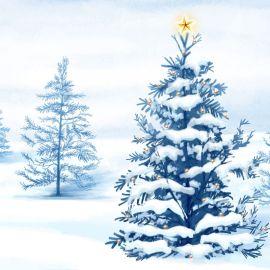 Christmas Tree – Snow Wallpaper