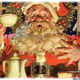 Coffe with Santa Wallpaper