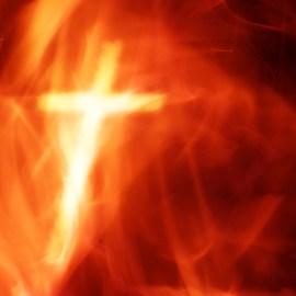 Cross and Fire Wallpaper