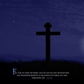 Cross and Moon (John 3:16) Wallpaper