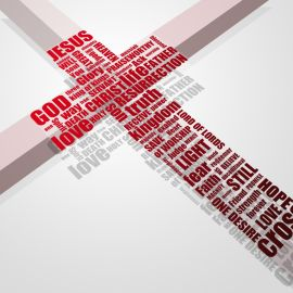 Cross and Names Wallpaper