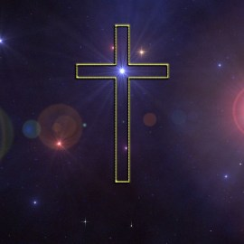 Cross and Stars Wallpaper